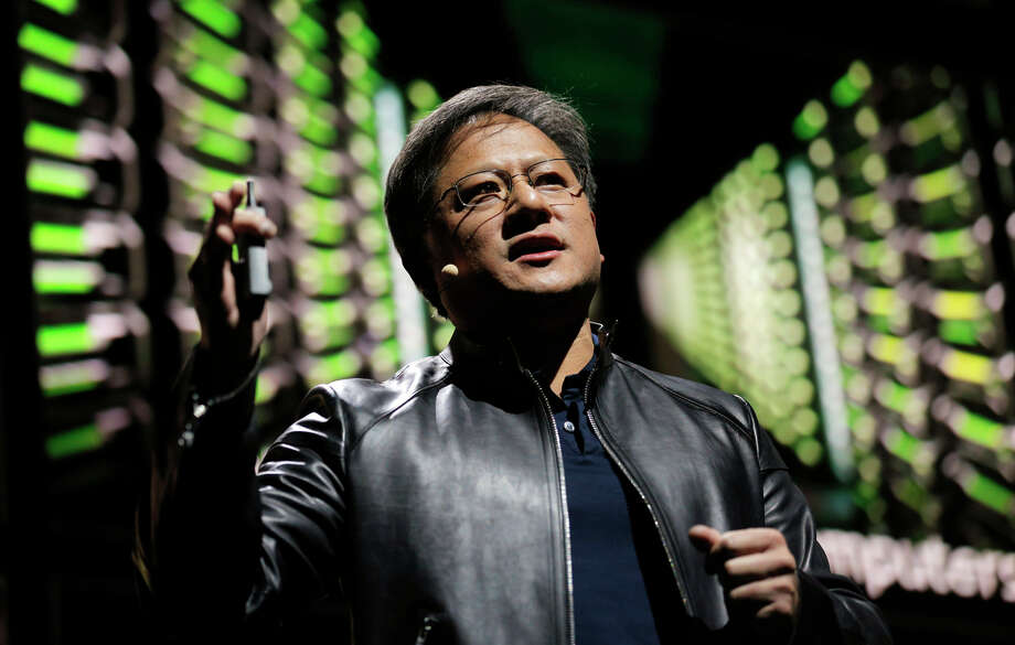 "Nvidia CEO Jen-Hsun Huang emphasized the Shield's gaming capabilities — indeed, Nvidia will promote the Shield as a set-top box that is ""made to game."" Photo: Carlos Avila Gonzalez / The Chronicle / ONLINE_YES"