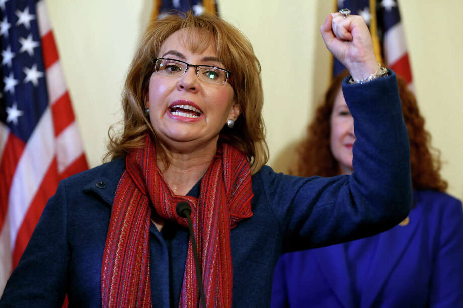 Former Arizona Rep. Gabrielle Giffords speaks during a press conference to announce a bipartisan bill to expand the gun purchasing background check system, Wednesday, March 4, 2015, in Washington, D.C. Photo: Connor Radnovich, Connor Radnovich/Hearst Media / Connecticut Post Contributed