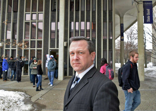 Deputy Chief Aran Mull on the UAlbany campus Tuesday March 3, 2015 in Albany, NY.  (John Carl D'Annibale / Times Union) Photo: John Carl D'Annibale, Albany Times Union / 10030849A