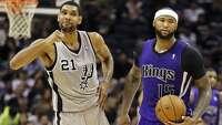 End 1st Q: Sacramento 27, Spurs 26 - Photo