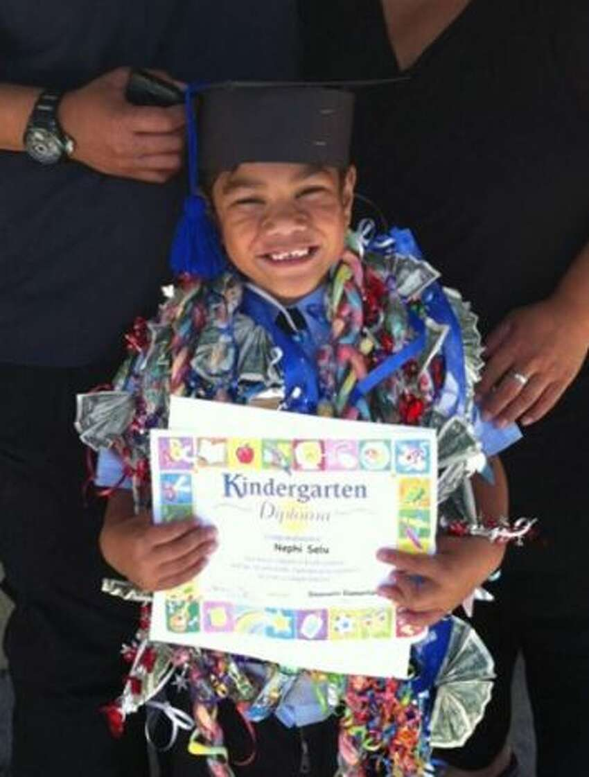 June 17, 2013: Nephi Selu, 6, (pictured) died after being attacked by Kava, a 2-year-old male pit bull mix. The boy lived at a home on Elizabeth Way in Union City with his extended family, including seven cousins. The dog was quarantined at the Tri-City Animal Shelter in Fremont, where it was later euthanized. The dog's owner, Keala Keanaaina, a relative of the boy and a San Mateo police officer, was not charged. STORY