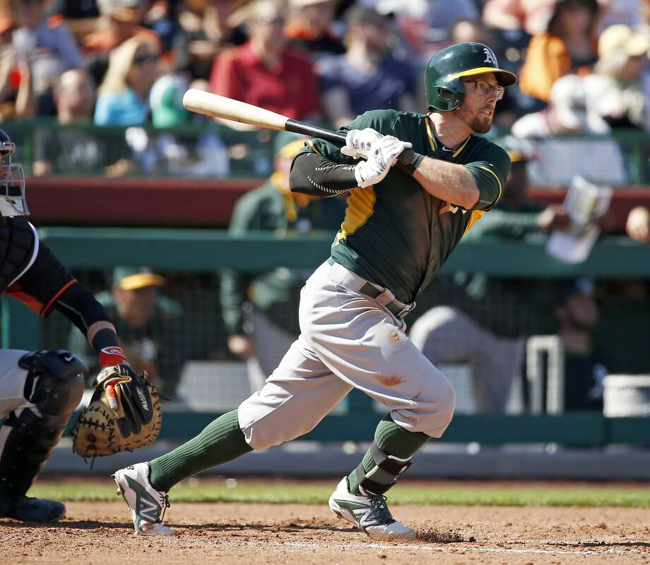 Eric Sogard is the only A's infielder still around from Oakland's 2014 Opening Night roster. Photo: Scott Strazzante, The Chronicle