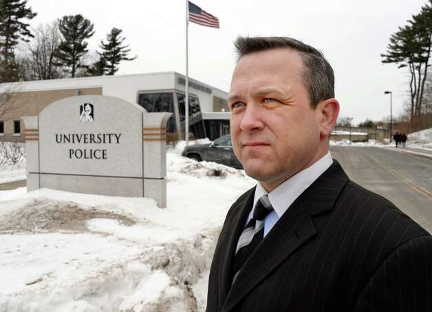 Deputy Chief Aran Mull outside the University at Albany Police Building on the UAlbany campus Tuesday, March 3, 2015, in Albany, N.Y. Marijuana arrests at the University at Albany have increased even though campus police have more discretion over whether to charge offenders. (John Carl D'Annibale / Times Union) Photo: John Carl D'Annibale / 10030849A