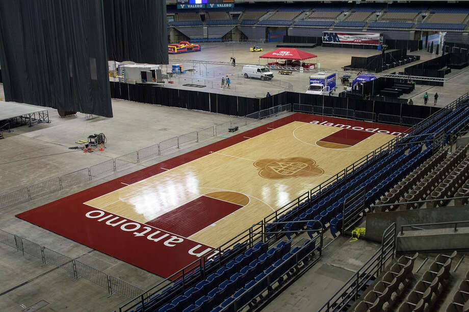 Preparations are in the works to reconfigure the Alamodome to accommodate the girls and boys state basketball tournaments for the first time. Photo: Courtesy