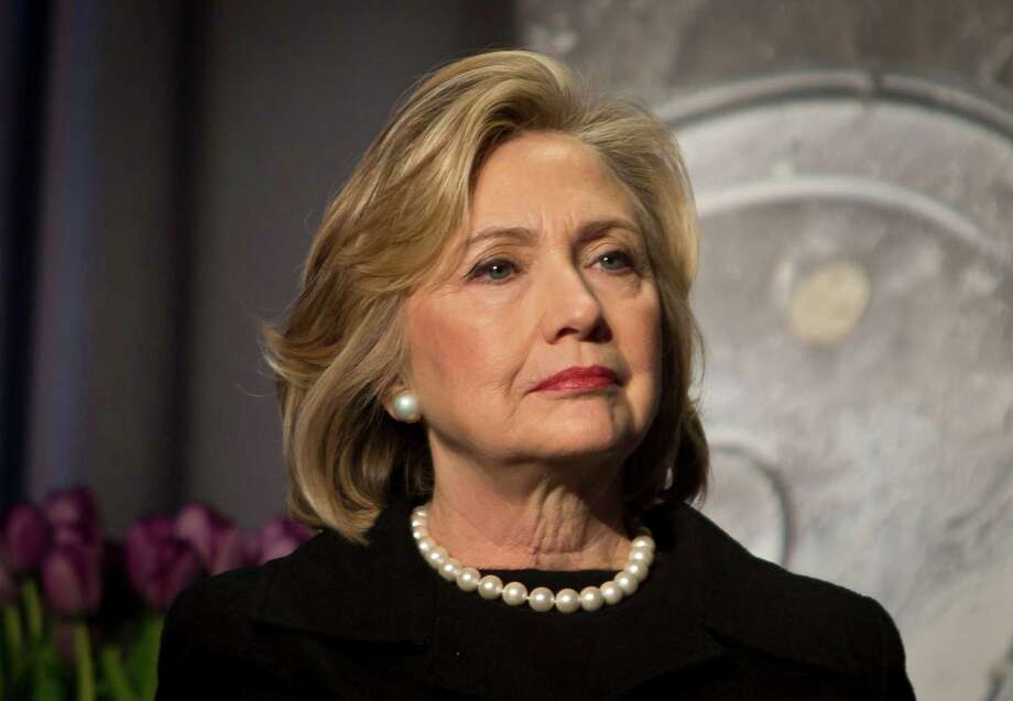 FILE - In this Friday, Nov. 21, 2014, file photo, Hillary Rodham Clinton is seen in New York. Hillary Rodham Clinton has so far kept a low profile this year, something that's starting to change as she heads toward her expected 2016 campaign for president. Clinton was to speak Tuesday at a Silicon Valley women's conference, her first U.S. speech of the year. It opens a stretch of public appearances in the next month ahead of an all-but-certain launch of her bid for the Democratic nomination. (AP Photo/Bebeto Matthews, File) Photo: Bebeto Matthews, STF / AP