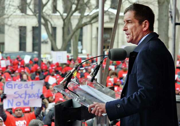 Sen. Jeffrey Klein, Independent Democratic Conference Leader, speaks during a pro-charter schools rally at the Capitol Wednesday, March 4, 2015, in Albany, NY.  (John Carl D'Annibale / Times Union) Photo: John Carl D'Annibale / 00030815A