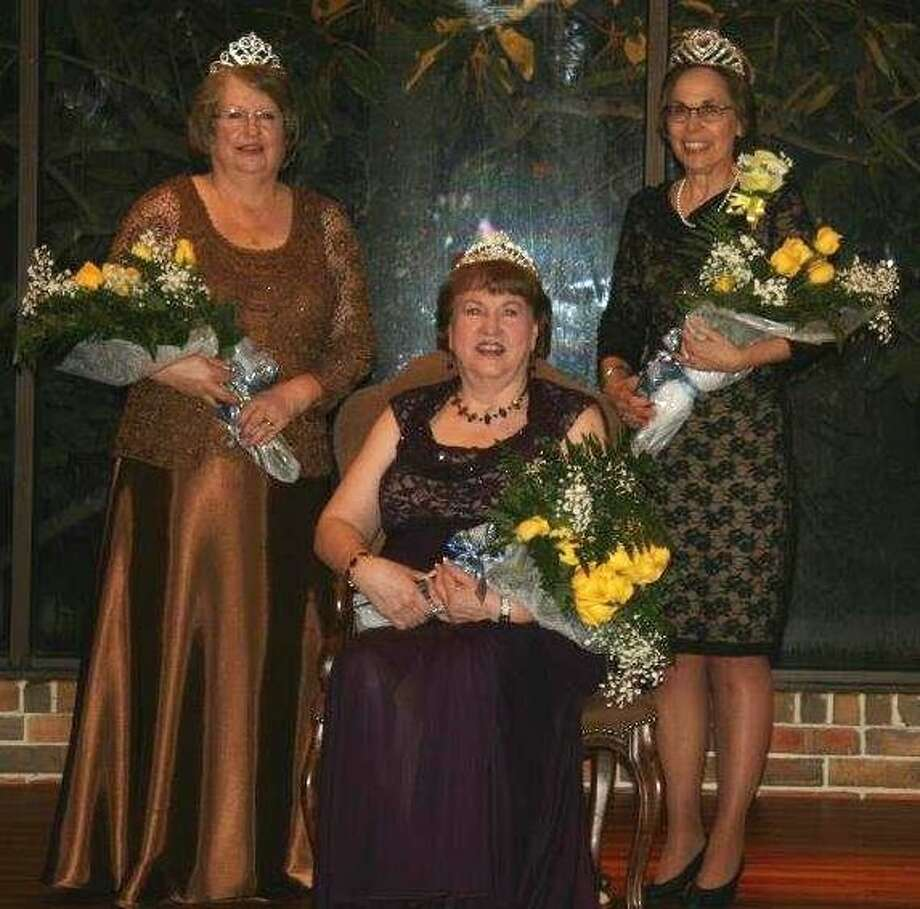The Houston Council of Beta Sigma Phi Sorority recently named its 2015 Royal Court. Katy residents Sharon Johnson-Munn, a 50-year member of Beta Sigma Phi Sorority and representing Epsilon Chi Master Chapter, was selected queen and Lyn Stephens representing Epsilon Phi Master Chapter was selected princess. From left are Stephens, Johnson and Sweetheart, Elizabeth Wright, Epsilon Tau Master Chapter. Photo: Houston Council Of Beta Sigma Ph
