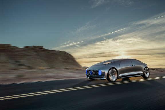 The Mercedes-Benz F 015 self driving concept car.