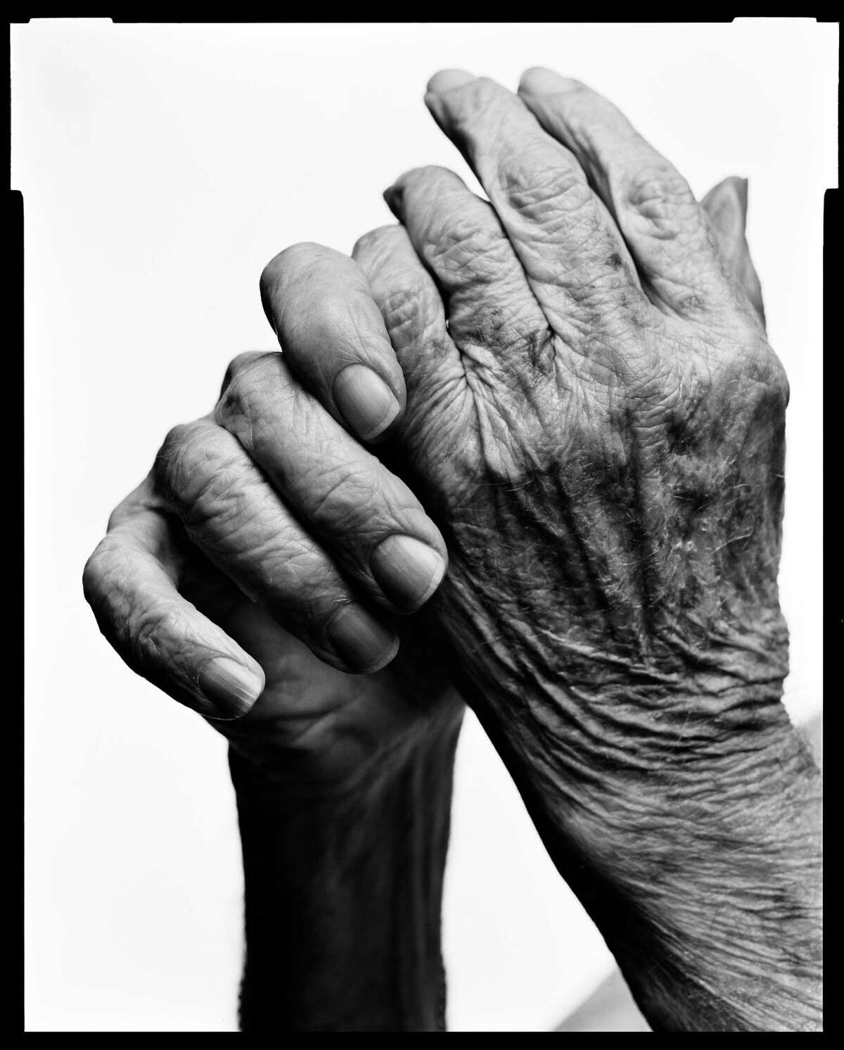 The hands of Mark Seliger's father.
