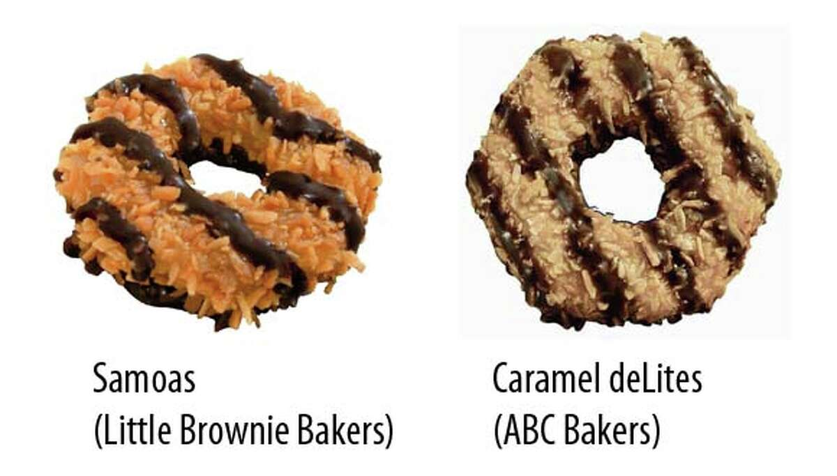 Sold in Dallas: Samoas Sold in Houston: Caramel deLites