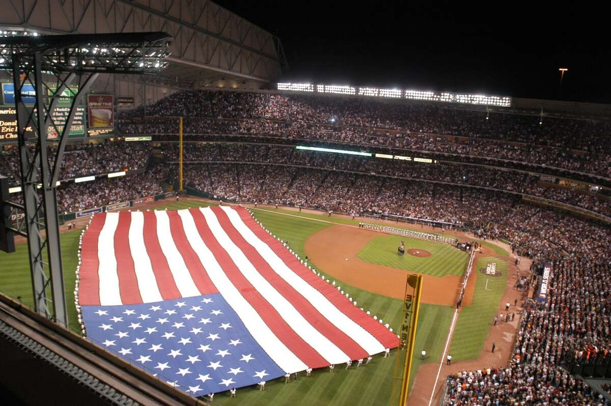 The roof at Minute Maid Park was opened for the 2005 World Series, the last time the Astros and White Sox met in the post-season. They meet again in the 2021 American League Division Series under a closed roof.