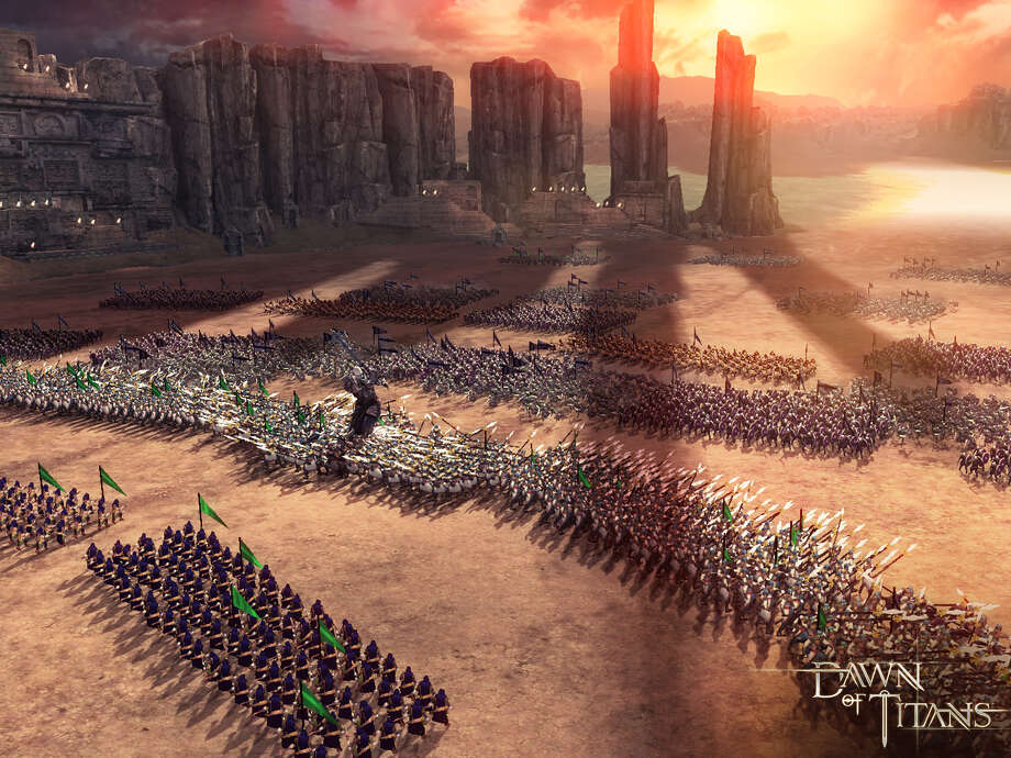 """Screenshots from Zynga show scenes from the upcoming mobile action strategy game """"Dawn of Titans."""" Photo: Photos By Zynga / ONLINE_YES"""