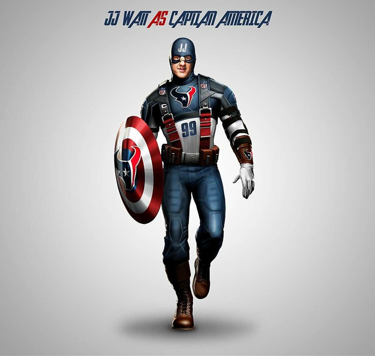 J.J. Watt as Captain America