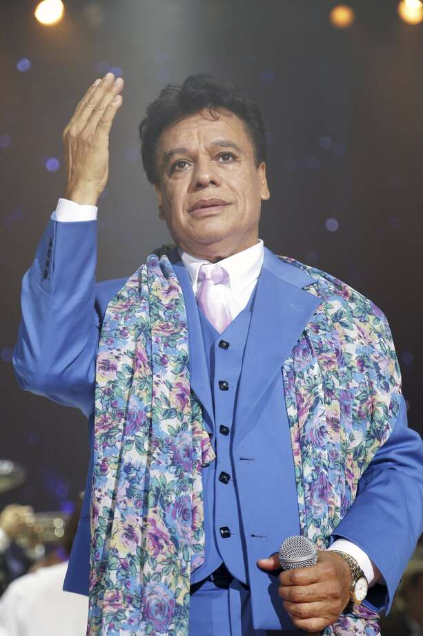 Juan Gabriel performs on stage during the opening night of his Volver tour Photo: Alexander Tamargo, Getty Images