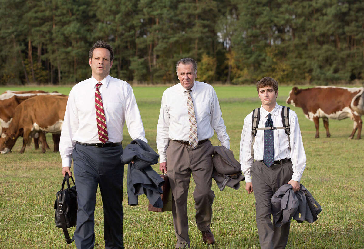"""(L-r) Vince Vaughn, Tom Wilkinson and Dave Franco in ?""""Unfinished Business.?"""" Illustrates FILM-UNFINISHED (category e), by Michael O?'Sullivan © 2015, The Washington Post. Moved Thursday, March 5, 2015. (MUST CREDIT: Jessica Miglio/Twentieth Century Fox.)"""