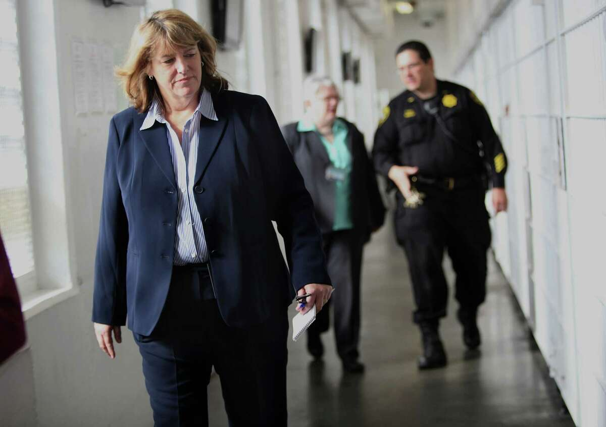 San Francisco Sheriff Vicki Hennessy tours the County Jail in San Francisco in 2012. She has received an early endorsement from the Sheriff's Managers and Supervisors Association to run for sheriff in November.