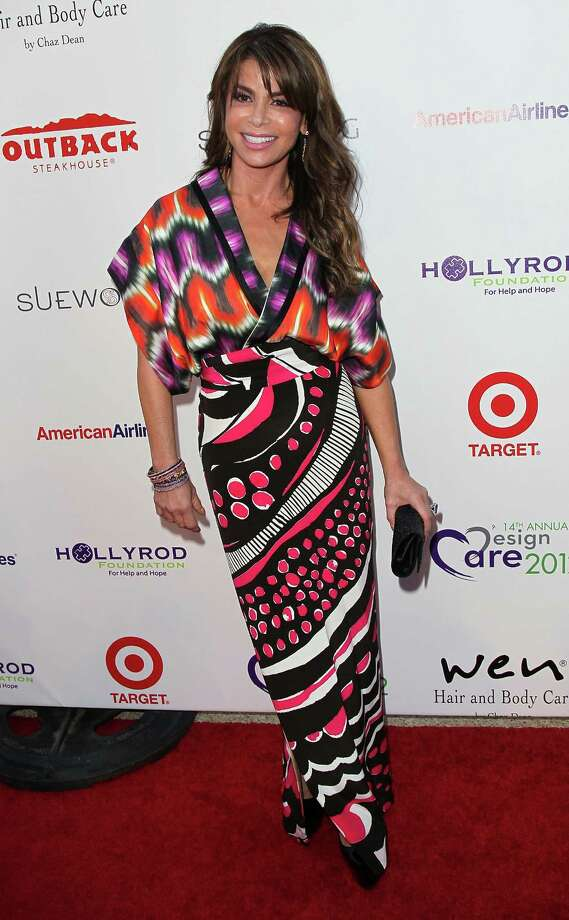 TV personality Paula Abdul attends the 14th Annual DesignCare event at a private residence on July 21, 2012 in Malibu, California. Photo: David Livingston, Getty Images / 2012 David Livingston