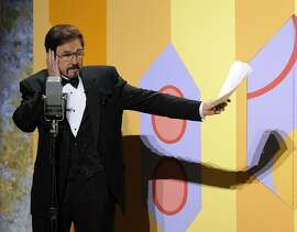 "FILE-This Sept. 21, 2008 file photo Gary Owens performs in a skit at the 60th Primetime Emmy Awards in Los Angeles. Owens, best known for announcing ""Rowan and Martin's Laugh-In,"" died, Thursday, Feb. 12, 2015 at his Los Angeles-area home. He was 80 years old.  (AP Photo/Mark J. Terrill, File)"
