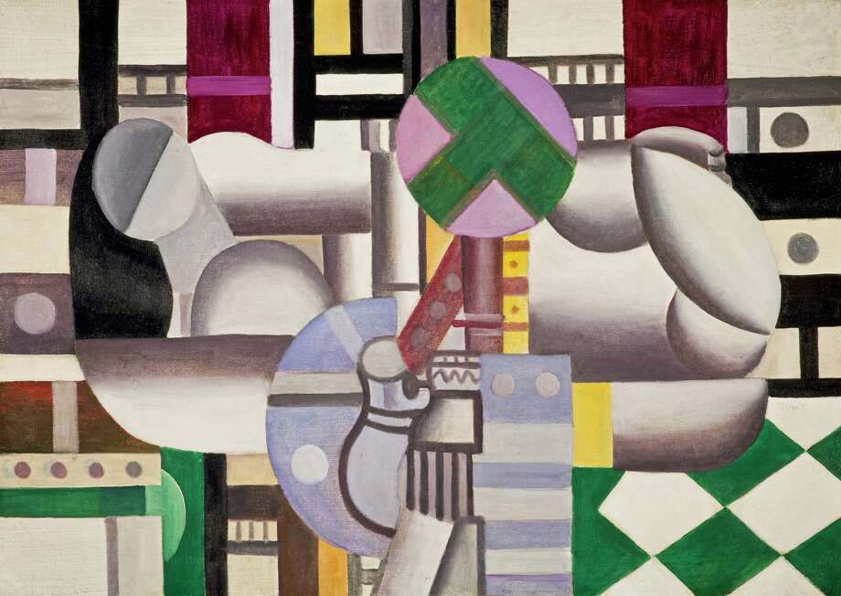 """Woman and Still Life"" (1921), oil on canvas by Fernand Leger, is his vision of the human form retooled by the Machine Age. Photo: Unknown / Scottish National Gallery / ONLINE_YES"