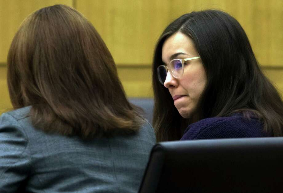 FILE - This Thursday, Feb. 5, 2015, file photo, Jodi Arias, right, sits with her defense attorney Jennifer Willmott during the sentencing phase of her retrial at Maricopa County Superior Court in Phoenix. The jury in the Arias case has reached a verdict on whether the convicted murderer should be sentenced to life in prison or death for killing her lover nearly seven years ago on Thursday, March 5, 2015.    (AP Photo/The Arizona Republic, Mark Henle, Pool, File) Photo: Mark Henle, POOL / Pool The Arizona Republic