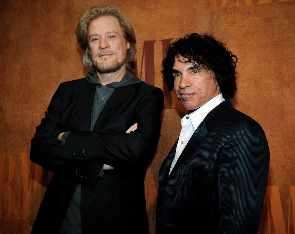 Daryl Hall was unimpressed with his accommodations at the Albany Hilton, assailing the downtown hotel from the stage Sunday night at the Saratoga Performing Arts Center. In this May 20, 2008 file photo, Daryl Hall, left, and John Oates, recipients of BMI Icons awards, pose together before the 56th annual BMI Pop Awards in Beverly Hills, Calif. (AP Photo/Chris Pizzello, File) ORG XMIT: NYR111