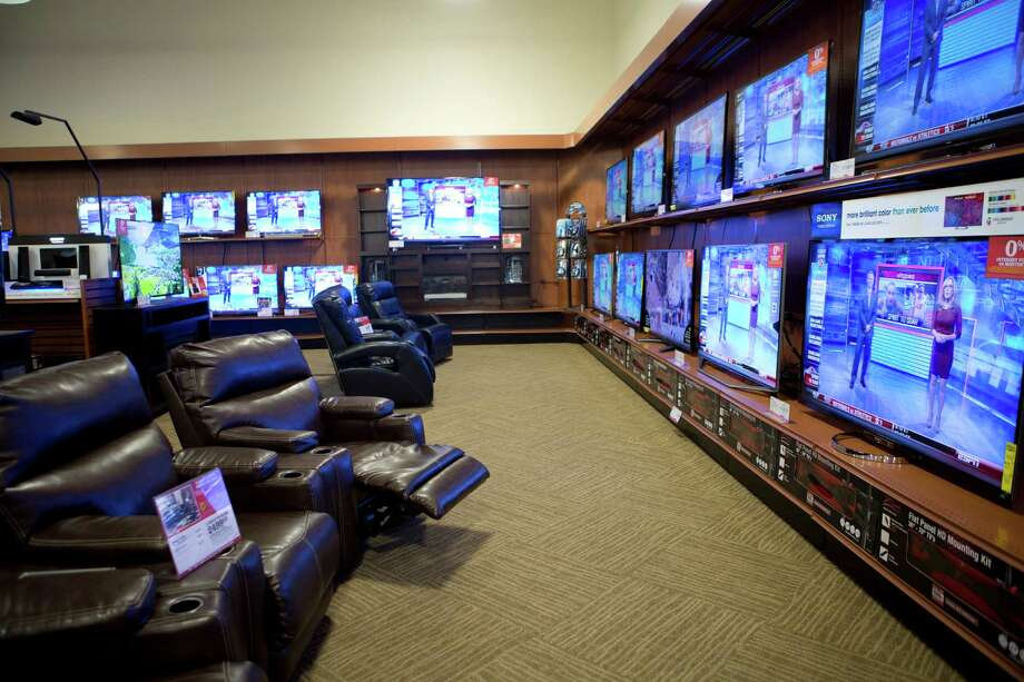 Televisions and electronics are displayed at a Conn's Home Plus in Spring.  Photo: Marie D. De Jesus, Staff / © 2014 Houston Chronicle