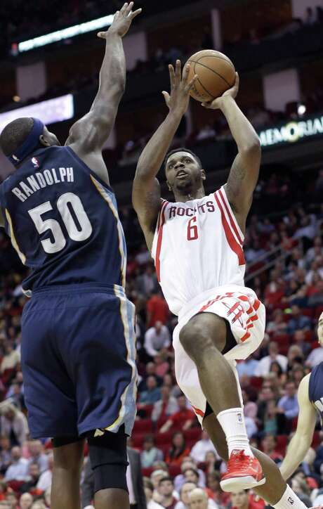 Terrence Jones (6) has performed well inside in Dwight Howard's absence, but the Rockets still come up short in their matchups with many teams. Photo: Pat Sullivan, STF / AP