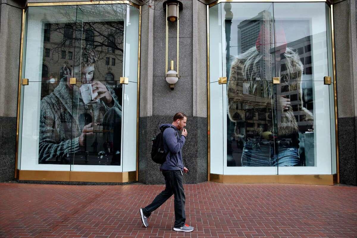 Market Street in San Francisco , Calif. on Wednesday, February 4, 2015.