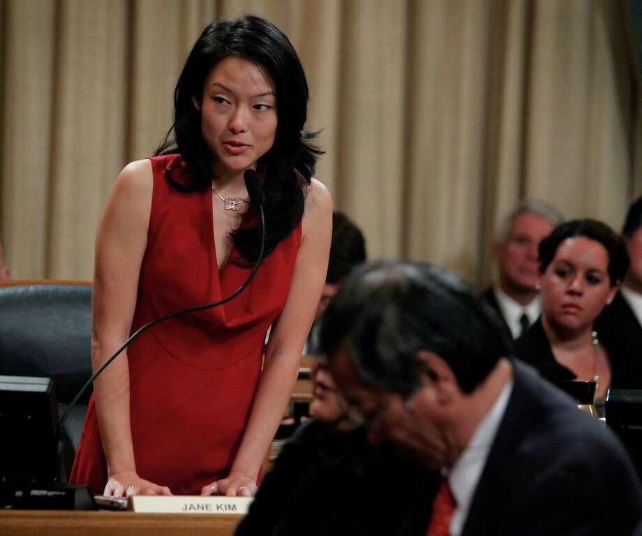 Supervisor Jane Kim attends a Board of Supervisors meeting/ Photo: Paul Chinn / The Chronicle / SFC