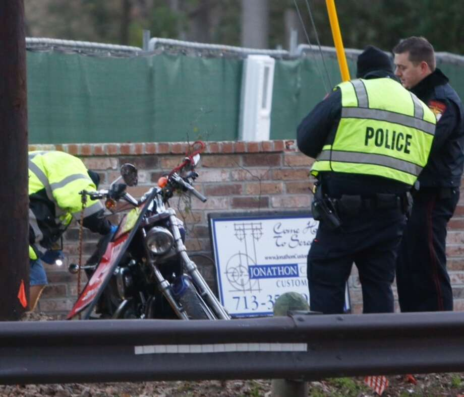 A motorcyclist died about 4:15 a.m. Friday after wrecking in the 600 block of Voss Road near Long Shadow, according to the Villages Police Department. Photo: Cody Duty / Houston Chronicle