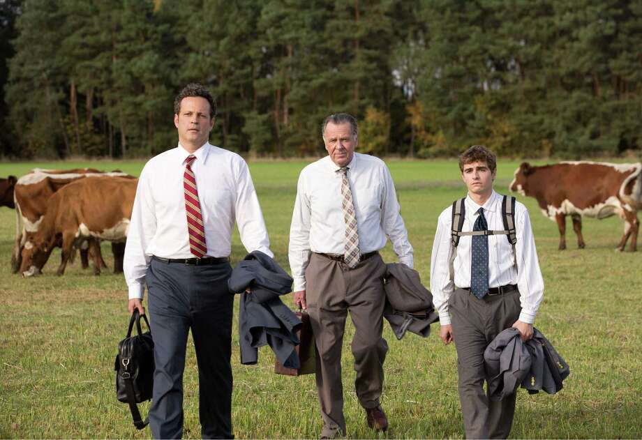 "This image released by 20th Century Fox shows, from left, Vince Vaughn, Tom Wilkinson and Dave Franco in a scene from ""Unfinished Business."" (AP Photo/20th Century Fox, Jessica Miglio) Photo: Jessica Miglio, HONS / 20th Century Fox"