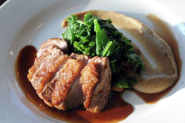 Wood fired duck breast at The Flammerie on Wednesday Feb. 25, 2015 in Kinderhook, N.Y. (Michael P. Farrell/Times Union) Photo: Michael P. Farrell / 00030744A