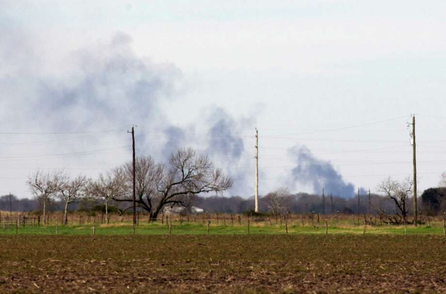 Smoke from a gas explosion as seen on Hwy 60 in between Hungarford and East Bernard on Friday, March 6, 2015. Photo: J. Patric Schneider, For The Chronicle / © 2015 Houston Chronicle