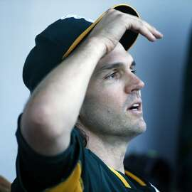 Oakland Athletics' Barry Zito after giving up two runs in 2 inning against Chicago Cubs in Spring Training Cactus League game at Sloan Park in Mesa, Arizona, on Thursday, March 5, 2015.