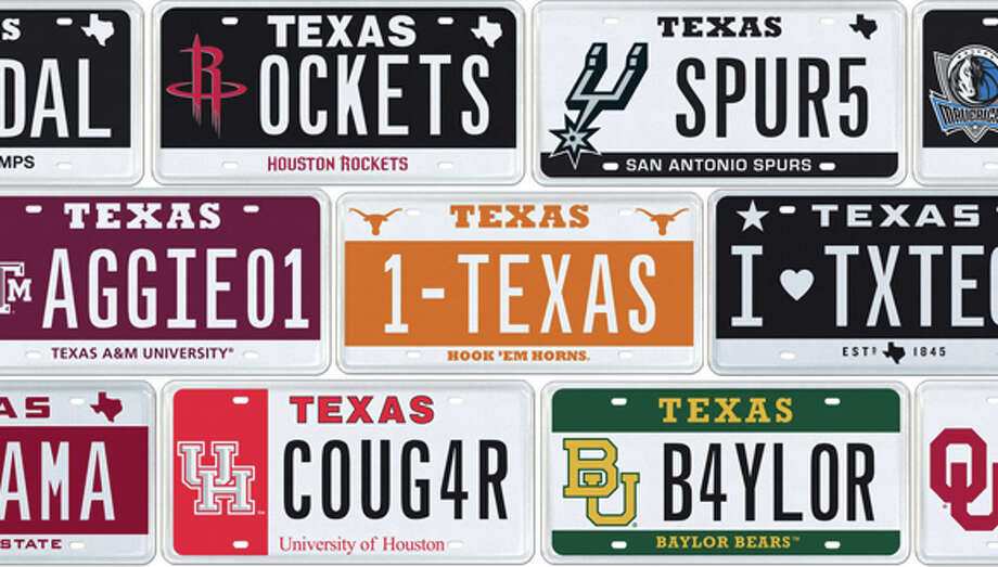 license plate auction is a texas sports fan 39 s dream sfgate. Black Bedroom Furniture Sets. Home Design Ideas
