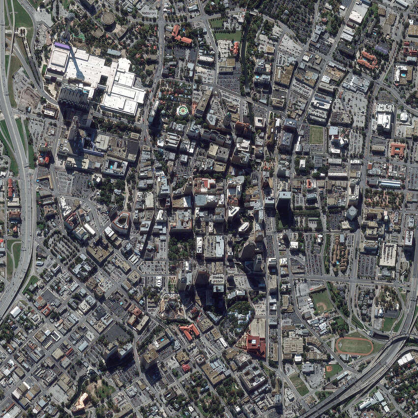 This is a satellite image of San Antonio, Texas, United States, the seventh most populated city in the United States and home of the Alamo. Collected on November 28, 2012.