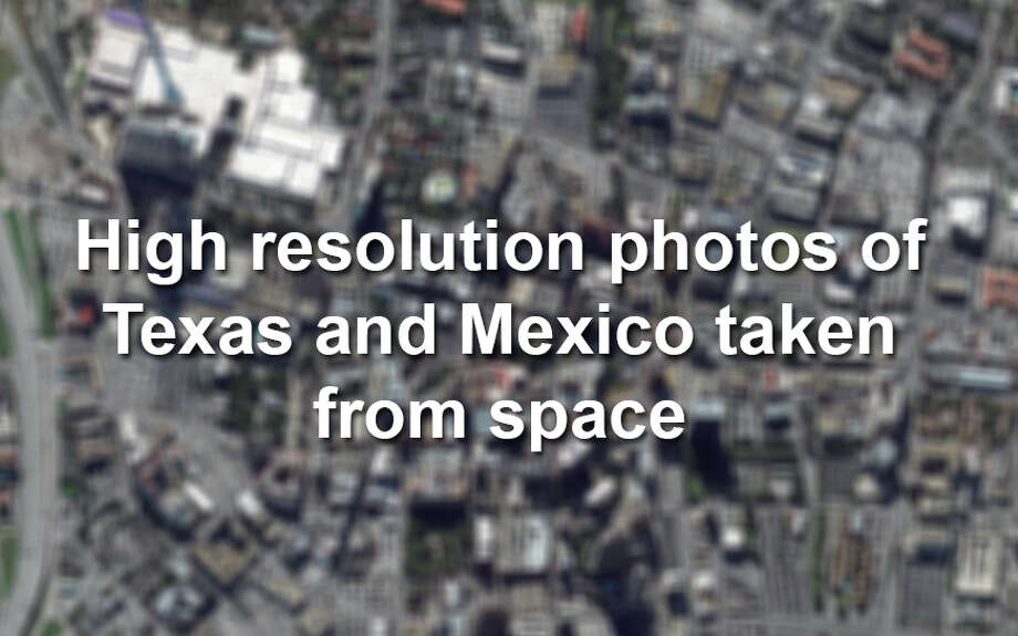 Here's what Texas and neighboring  Mexico look like from space, via high resolution photos taken by Colorado-based satellite company DigitalGlobe. Photo: DigitalGlobe Via Getty Images