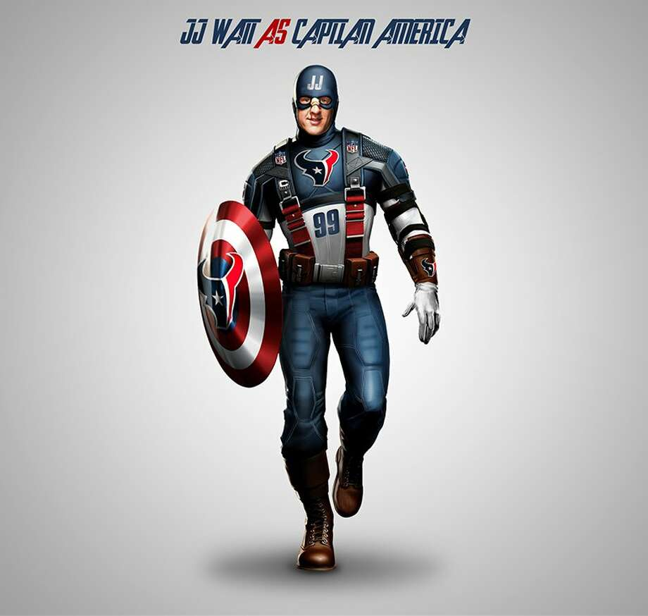 J.J. Watt as Captain America Photo: NFL Memes / Daily Snark