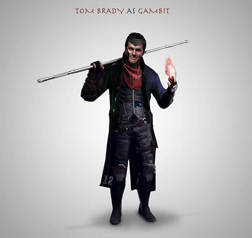 Tom Brady as Gambit