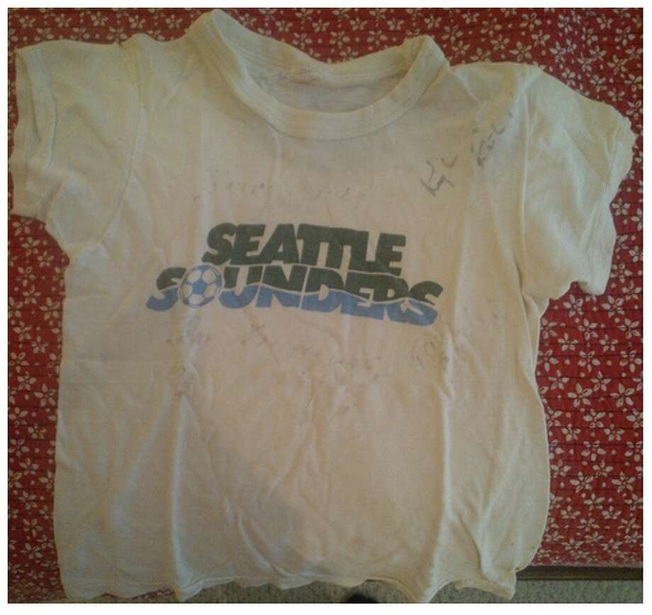 You know you're a Sounders fan if ...... you kept your autographed T-shirt from 1974.(Submitted by seattlepi.com reader @krisoccer via Twitter.) Photo: Seattlepi.com