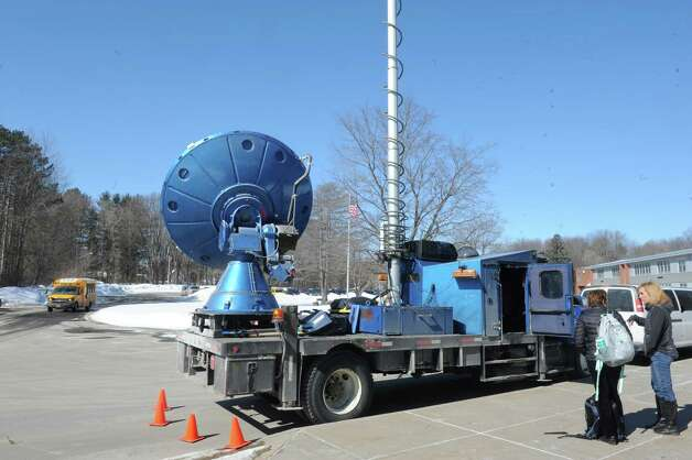The Center for Severe Weather Research Doppler on Wheels visited the Burnt Hills-Ballston Lake High School on Friday, March 6, 2015, in Burnt Hills, N.Y.  (Michael P. Farrell/Times Union) Photo: Michael P. Farrell / 10030874A