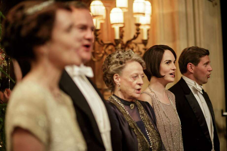 """Maggie Smith, center, decided not to run off with a Russian prince in Season 5 of """"Downton Abbey."""" Photo: Nick Briggs, STR / THE WASHINGTON POST"""