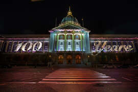 Rendering of City Hallprojections by Obscura Digital