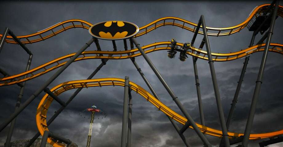 Batman: The Ride, a high-tech four-dimensional coaster, will feature a 120-foot ascent, two free-fall-recalling drops and six free-fly flips. It makes its debut at Six Flags Fiesta Texas in San Antonio this month.