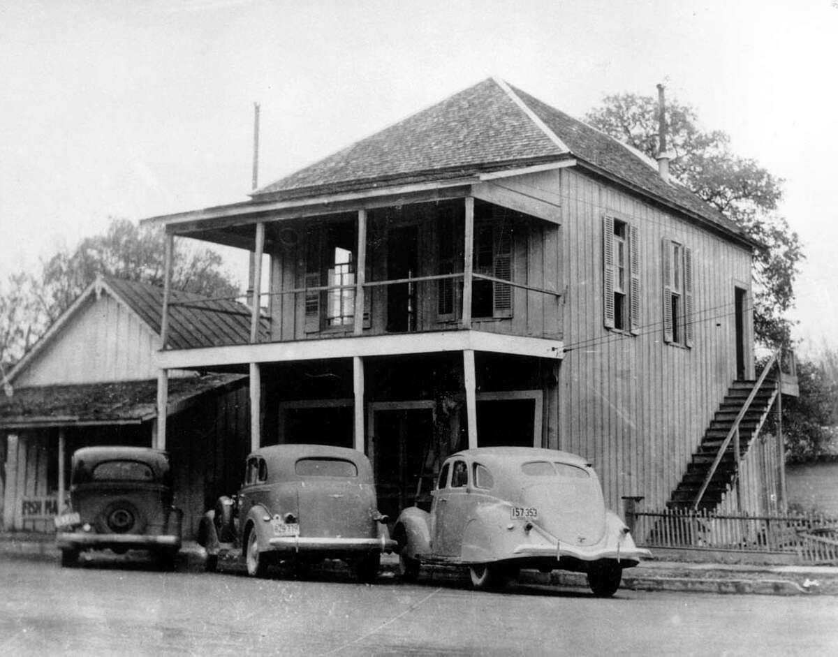 This wooden, two-story building housed the Butt family's first grocery store in Kerrville. Florence Butt opened the store in the lower floor in 1905; her family lived on the upper floor.