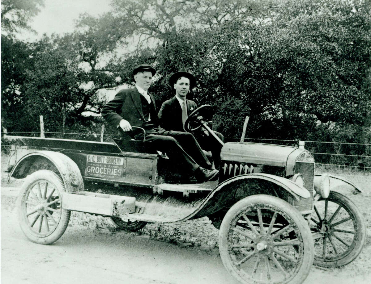PHOTOS: H-E-B's little known facts The store was founded for $60 by Howard Butt's mom, Florence: Photo of Howard E. Butt Sr. (left) and G. Leland Richeson in one of C.C. Butt Grocery's first motorized delivery vehicles. The company was a forerunner of today's H-E-B. Richeson, hired in 1913, was one of H-E-B's first employees. >>Here are more things you probably didn't know about the grocery chain.