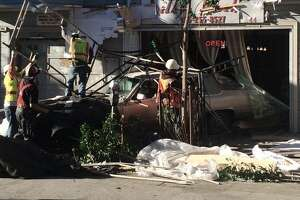 Car slams through Lower Haight nail salon - Photo