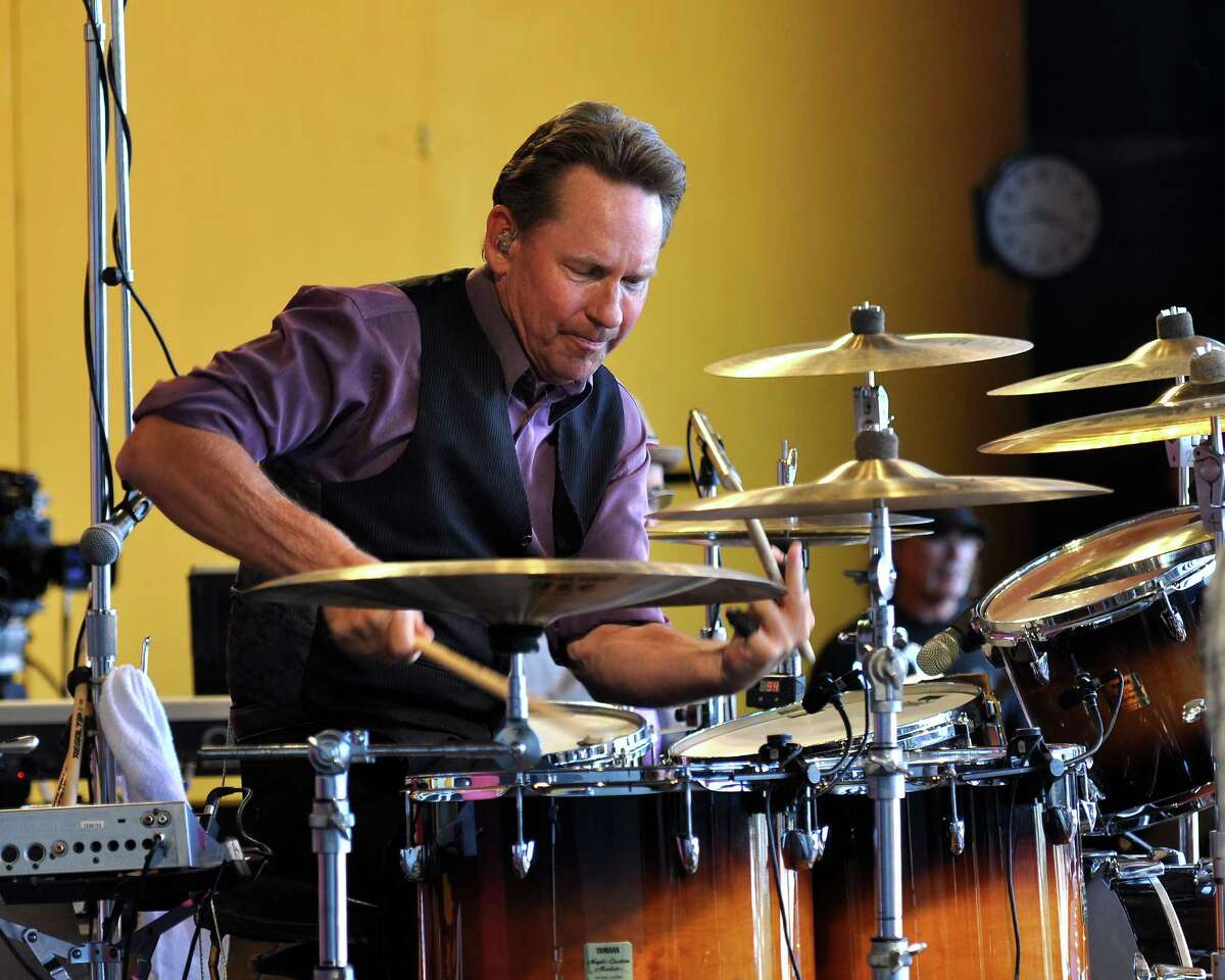 Bill Gibson performs with Huey Lewis & The News at the Monterey Jazz Festival in Monterey, California, United States on Sept. 17, 2011.