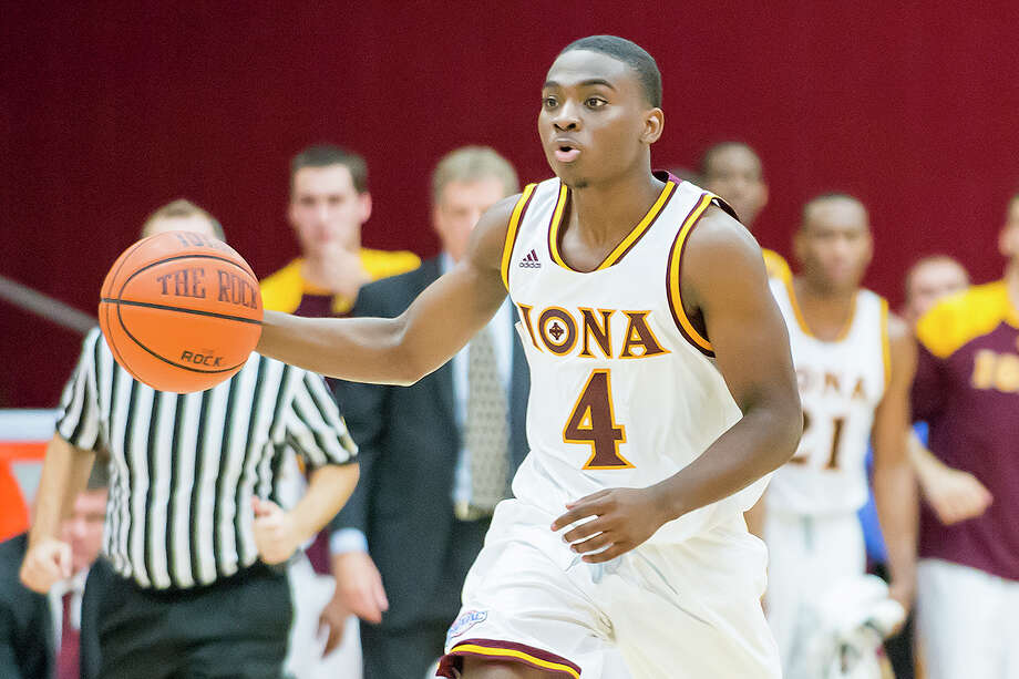 Iona freshman Schadrac Casimir, a Stamford native, was named the Metra Atlantic Athletic Conference Rooke of the Year on Friday, March 6, 2015 Photo: Contributed Photo, Iona College Athletics/Contribut / Stamford Advocate Contributed