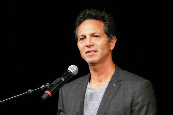 LOS ANGELES, CA - NOVEMBER 13:  Actor Benjamin Bratt speaks onstage during Voices of a People's History 10th Anniversary Show at The Japanese American Cultural and Community Center on November 13, 2014 in Los Angeles, California.